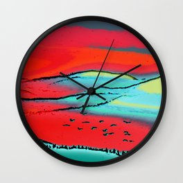 Danube Sunrise Wall Clock