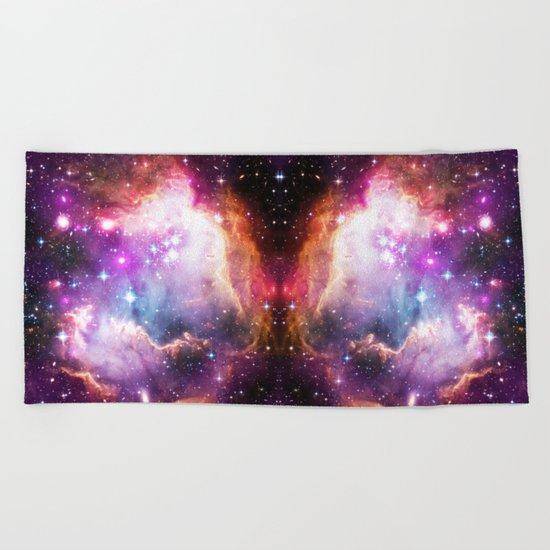 Purple Nebula Clouds / #pattern #graphic #design #space #society6 Beach Towel