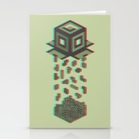 tetris Stationery Cards featuring Tetris by Delaney Digital