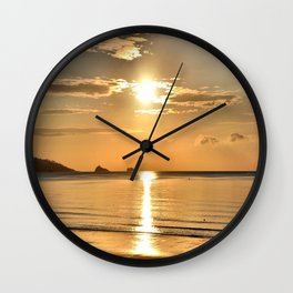 Thatcher Rock Sunrise Wall Clock