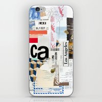 los angeles iPhone & iPod Skins featuring Los Angeles by Emily Rickard