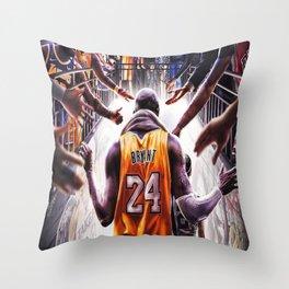 K.B , Kobe#Bryant, Los Angeles, KobeBryant, K.B King of Basketball Throw Pillow