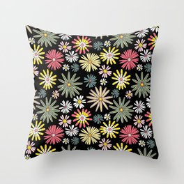 Dusk Wildflowers Throw Pillow