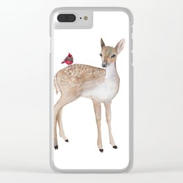 Little fawn Clear iPhone Case