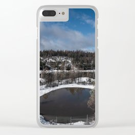 Paradise Reservoir, Post Camp Fire Clear iPhone Case