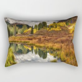 Transition Of The Seasons in Rocky Mountains Colorado by OLena Art Rectangular Pillow