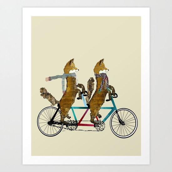 fox days lets tandem Art Print