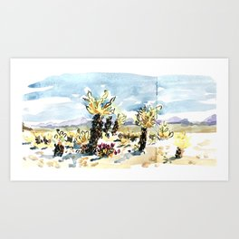 Chola Gardens Sketchbook Page Art Print