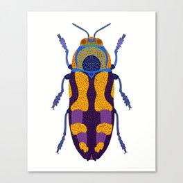 Purple and Blue Beetle Canvas Print