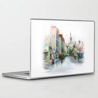 street Laptop & iPad Skins featuring street by tatiana-teni