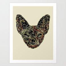 Geometry Sphynx Art Print