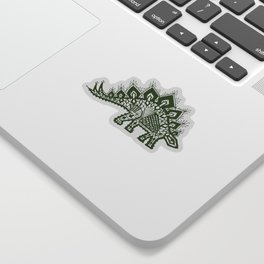 Stegosaurus Lace - Green Sticker