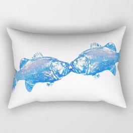 fishkiss: 23blue Rectangular Pillow