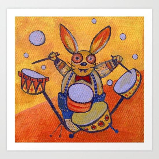 mad rabbit  Art Print