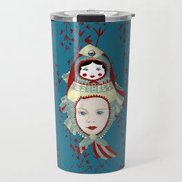 Petrol Blue Mermaidoska Travel Mug