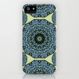 Floral mandala-style, Forget-me-nots 005.5 iPhone Case