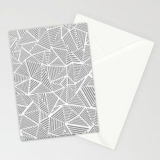 Abstraction Linear Inverted Stationery Cards