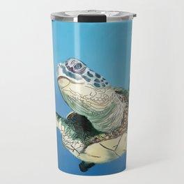 Waving Sea Turtle Travel Mug