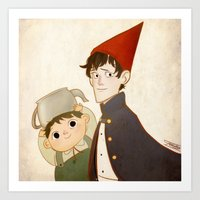 greg guillemin Art Prints featuring Greg & Wirt by Ferkashi