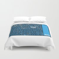 labyrinth Duvet Covers featuring Labyrinth by Stoian Hitrov - Sto