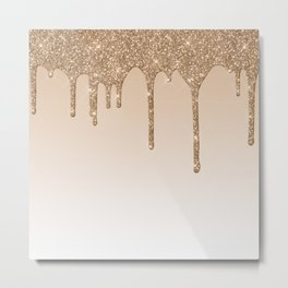 Dripping gold Metal Print