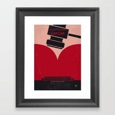 No737 My Liar Liar minimal movie poster Framed Art Print