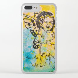 Sheer Delight ( Laughing Fairy ) Clear iPhone Case