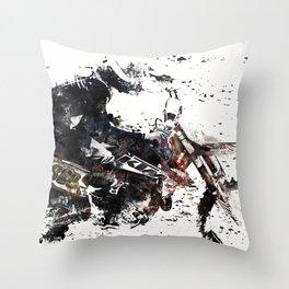 Motox Racer Throw Pillow