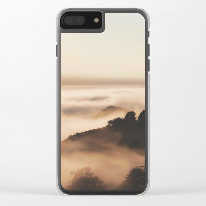Mountain Fog #sun Clear iPhone Case