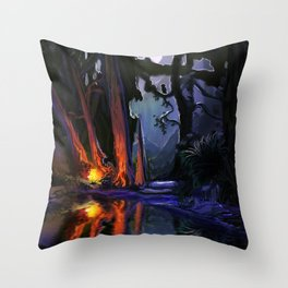 The Owl and the Wolf Throw Pillow