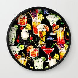 Cocktail Hour in the Tropics Wall Clock