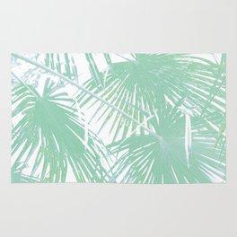Subtle palm leaves Rug