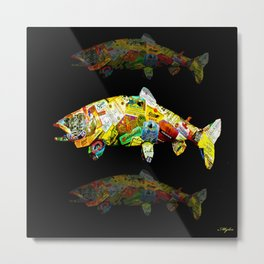 FATHER  LIKES FISH AND BOURBON POP ART Metal Print