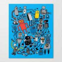 robots Canvas Prints featuring ROBOTS! by Chris Piascik