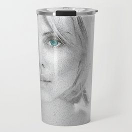 Charlize Theron  Portrait Travel Mug