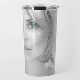 Charlize Theron  Portrait Travel Mug