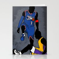 lakers Stationery Cards featuring The Step Over by nissa
