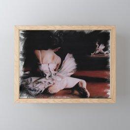 """"""" Resting Ballerina In The Mirror"""" Framed Mini Art Print"""
