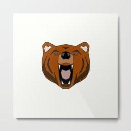 Geometric Bear - Abstract, Animal Design Metal Print