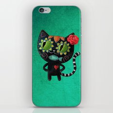 Black cat of the dead iPhone & iPod Skin
