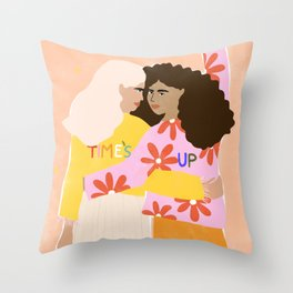 TIME'S UP by Alja Horvat Throw Pillow
