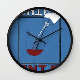 Whine to Wine Wall Clock