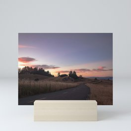 Sunset on Kneeland road Mini Art Print