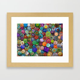 Glass Buttons Framed Art Print