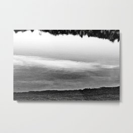 Swaths Of Black and White Metal Print