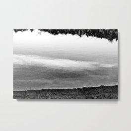 Swaths Of Black and White Metal Print