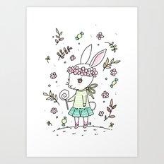 Summer Bunny Art Print