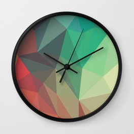 Geometric Low Polly Design Wall Clock