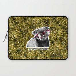 PUG SUKI - YOU'RE A WIZARD HARRY -GOLD GLITTER Laptop Sleeve