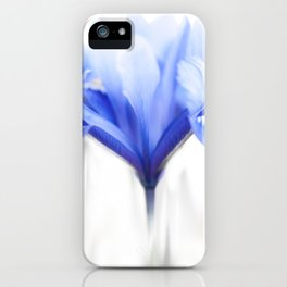 Blue Iris 1 iPhone Case
